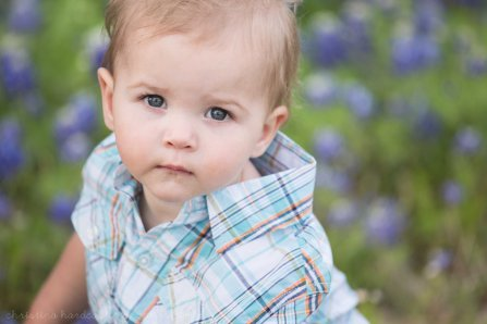 sweet boy in bluebonnets