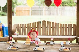fireman birthday party photography