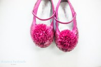 pink flower girl shoes
