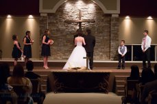 wedding at the altar