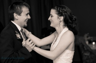 first dance wedding groom laughing