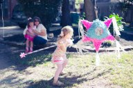 Pinata at birthday party