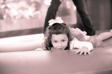 little girl on bounce castle