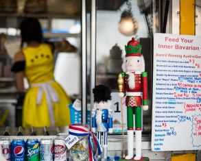 german food truck and nutcracker