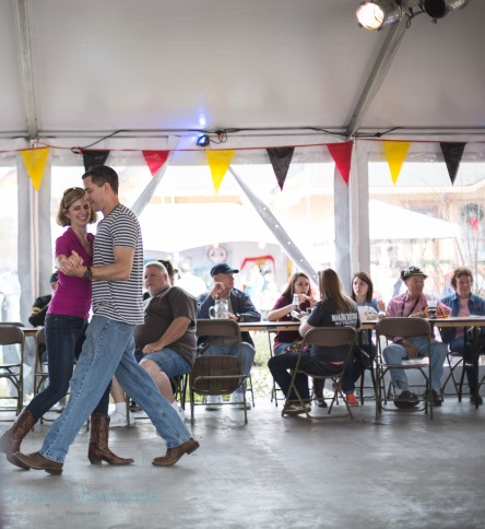 couple dancing at german festival