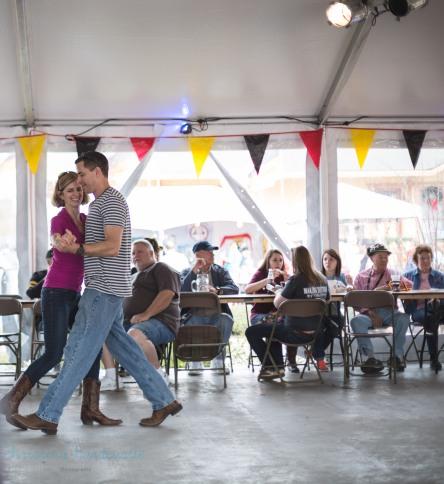 couple dancing at german festival