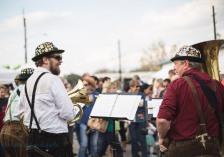 tuba players at festival