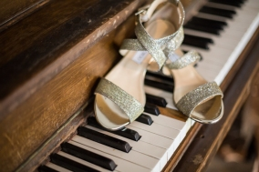 shoes on piano