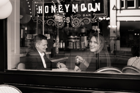 couple at honeymoon bar