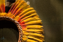 yellow feathers woven
