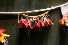 feather jewellery hanging