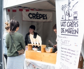 crepe stand at french festival