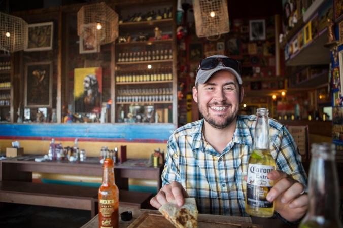 man at christchurch mexican restaurant