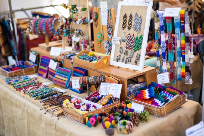 colourful jewellery for sale at latin festival