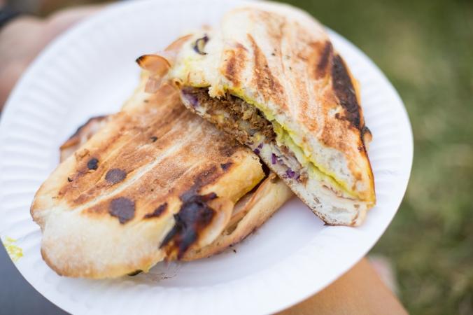 cuban sandwich cut in half