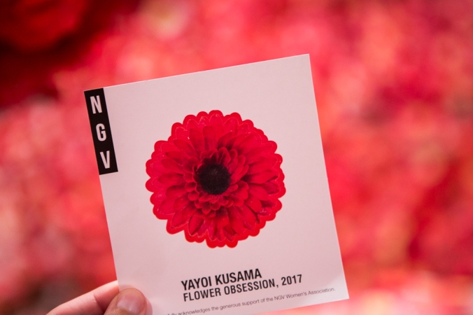 NGV triennial flower sticker