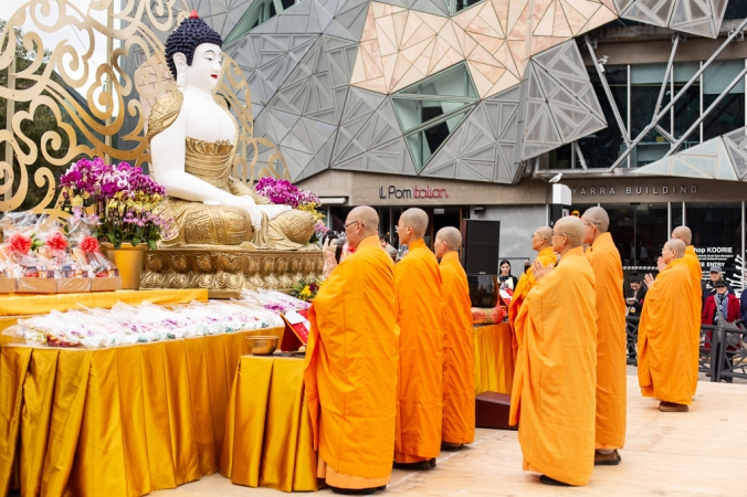 buddha festival at federation square