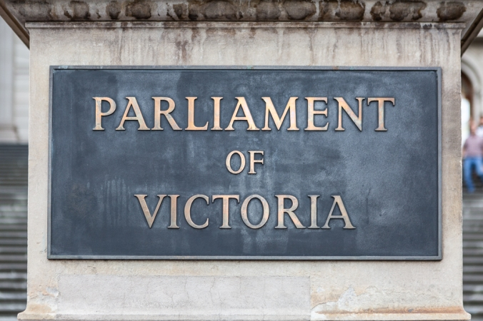 parliament of victoria sign