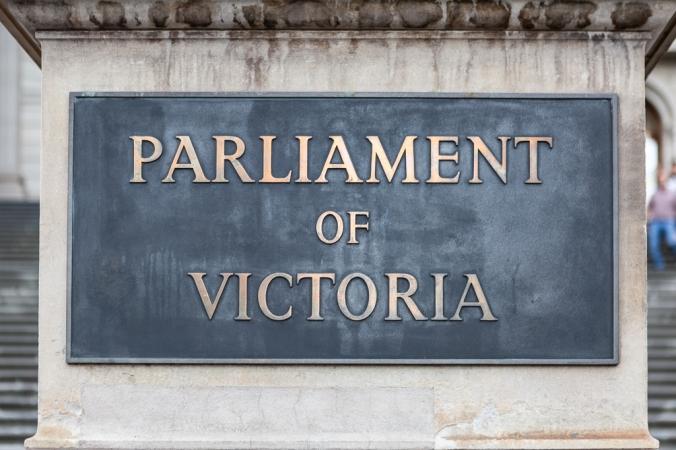 parliament of victoria sign