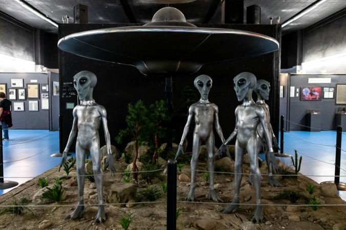 alien scene in museum in roswell